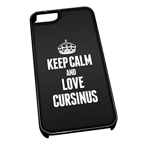 Nero cover per iPhone 5/5S 2000nero Keep Calm and Love Cursinus