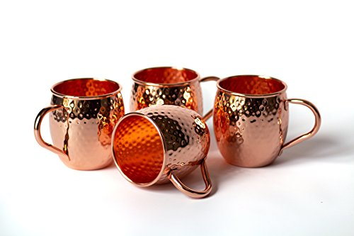 Moscow Mule Copper Mugs - Set of 4 - Back Bay House & Home - Artisan Hammered by Back Bay House & Home