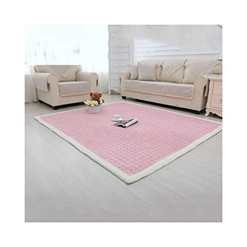 LQQFFhousehold Products Carpeting Children's Bedroom Climbing Bedding Bedroom Carpeting Living Room Rectangular Rug Cloakroom Mat (Color : Pink, Size : 110x210cm)