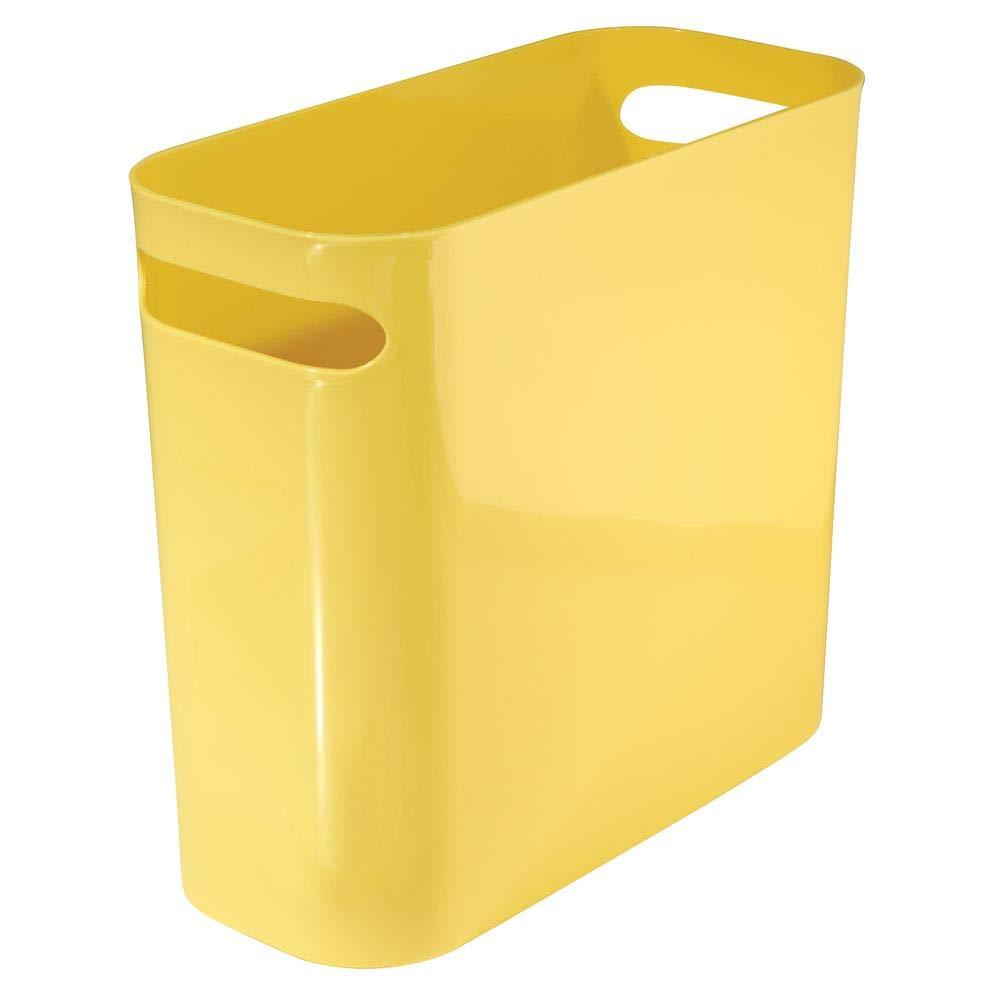 Ideale come contenitore per rifiuti o anche come cestino gettacarte mDesign Bidone spazzatura con maniglie In robusta plastica bagno e ufficio Design moderno Per cucina