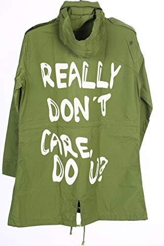 - NEXT ATLANTIC Melania Trump Olive Printed Jacket-I Really Don't Care Do U Coat