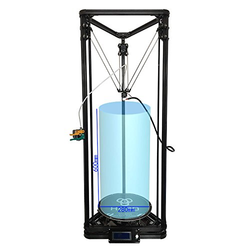 HE3D K280 Delta DIY 3D Printer,Large Printing Size 280X600mm,Fast Heating Bed to 110 Degree