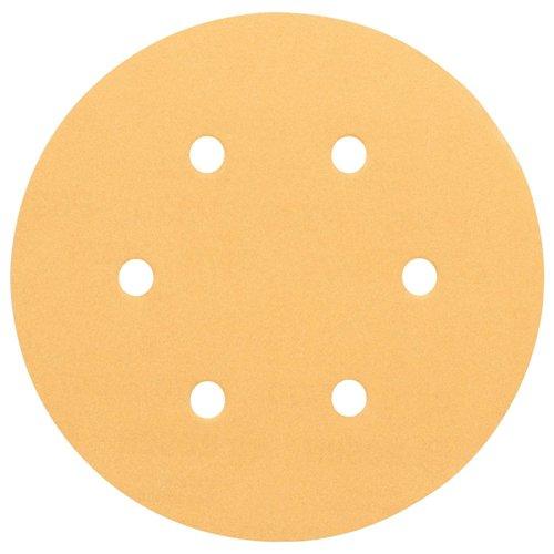 Disco de Lixa 60/120/240 com 6 Unidades, Bosch 2608605102-000, Amarelo