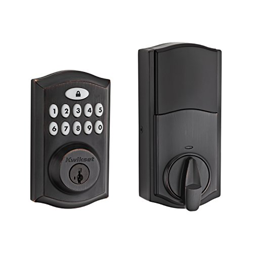 Series Touchpad Assembly - Kwikset 99130-003 SmartCode 913 UL Electronic Deadbolt featuring SmartKey in Venetian Bronze