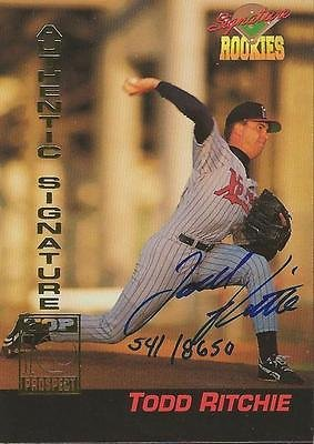 (Todd Ritchie 1994 Signature Rookies Certified Autograph Card RC /8650 #17 Pirate)