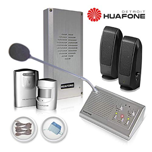 - (Kit#1X) Automatic Drive Thru Intercom kit (Commercial Grade, Gen 2) + Vehicle Detector + Staff Listen-in HD Speakers + Drive Thru Signage Set + 90-ft Huafone-Engineered Wires