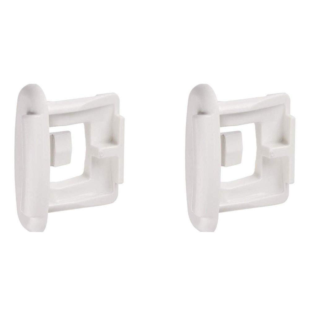 Wadoy WD12X10304 Dishwasher Rack Slide End Cap(Stop Clip) for Upper Rack Rail Compatible with GE/Kenmore/ Hotpoint