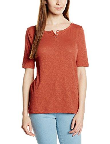 Marc O'Polo 602226152453 - Camiseta de manga corta para mujer Rojo (Calypso Coral 351)