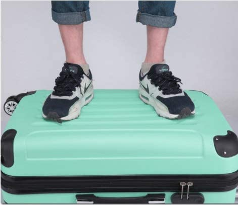 Color : Green, Size : L TangFei ABS Matte Luggage Trolley case Suitcase 20 inch 24 inch Men and Women