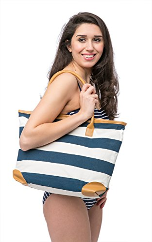 Shopper Bag Canvas Summer Girls Blue for ladies Bags Beach Tote Shoulder Womens 0wg0Ed