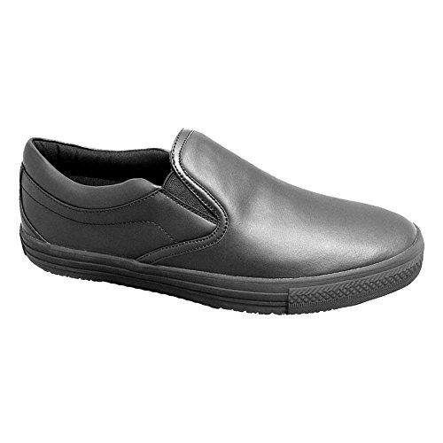 Genuine Grip Mens Slip On Shoe Black XYo1i146u