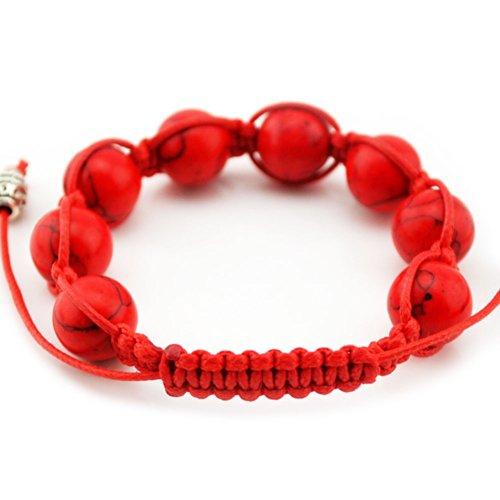 MULBA Bracelet de vente chaud Perles rouges Bracelet pour les femmes F2604