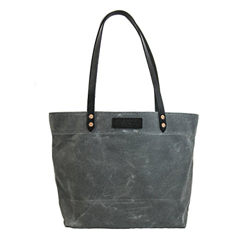Market Tote - Waxed Canvas - Charcoal - Made in USA