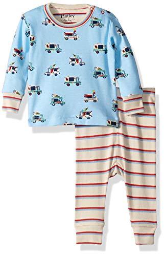 Hatley Baby Boys Organic Cotton Long Sleeve Mini Pajama Set, Ice Cream Trucks, 3-6 Months