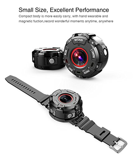 Smart watches camera s222 IP68 Waterproof WIFI 1080P 720P 2K Support 32GB Memory Card Sports Watch Video Camcorder DVR DV by Hipipooo