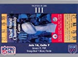 super bowl iii ticket - Super Bowl III football card (New York Jets & Baltimore Colts, 1969 Ticket Stub) 1990 Pro Set #3