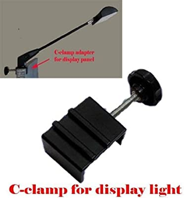 DSM Tm C-clamp Adapter Converter for Pop up Tension Booth Display Light LED / Halogen