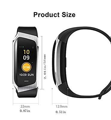 Fitness Tracker with Heart Rate Monitor Sleep Monitor Calorie Counter Step Counter IP67 Waterproof for Women Men Fit Watch Android iOS