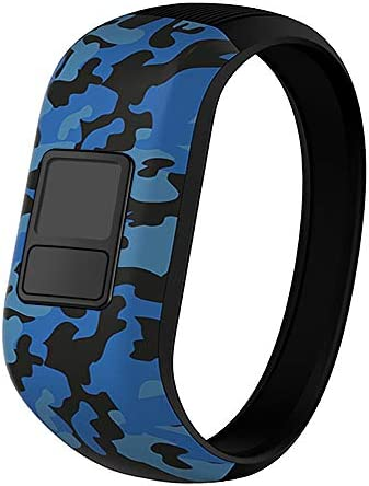 iBREK for Garmin Vivofit jrjr 23 Bands Silicone Stretchy Replacement Watch Bands for Kids Boys Girls Small Large(No Tracker)-SmallBlue Camo / iBREK for Garmin Vivofit jrjr 23 Bands Silicone Stretchy Replacement Watch Bands for Kids...