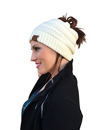 EKB Messy Bun Beanie, New Bun Beanie, Crochet Messy Bun Beanie, Ponytail Beanie Hat