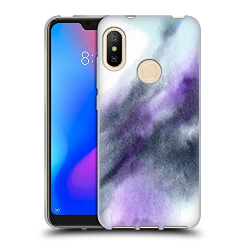 Official Julien Corsac Missaire Marbled Milk Black Purple Abstract Soft Gel Case for Xiaomi Mi A2 Lite/Redmi 6 Pro -  Head Case Designs, HTPCR-MIA2LT-JMISABS-BPU
