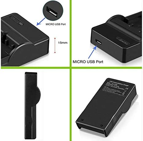 LCD Micro USB Battery Charger for Canon ZR40 ZR65MC MiniDV Camcorder ZR50MC ZR60 ZR45MC