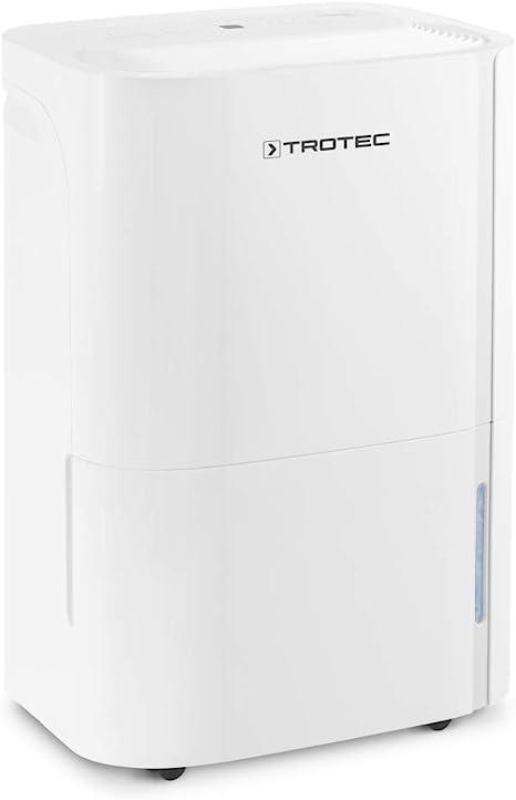 TROTEC Deshumidificador eléctrico TTK 66 E, 24L/24h, Pantalla LED, Depósito 3L, Portátil, para Habitaciones de 50m², Silencioso, 440 W, Auto-Apagado, Temporizador ...