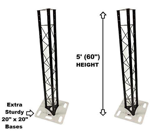 ter 5ft Black Triangle Metal Truss Tower + 20