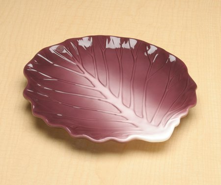 Large Red Cabbage Collectible Vegetable Ceramic Plate