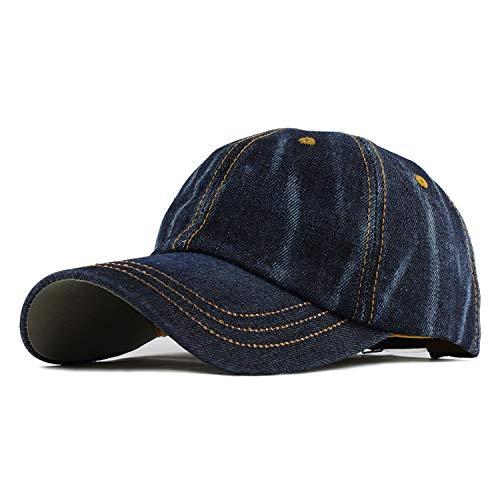 Dreamstar Cowboy Washed Cap Men Women Baseball Cap Adjustable Solid Color Dad Hat Hip Hop Fans Snapback (Feather And Fan Knitting Pattern)