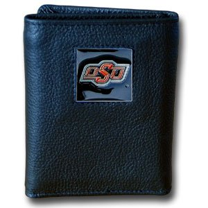 College Tri-fold Leather Wallet - Oklahoma St. Cowboys
