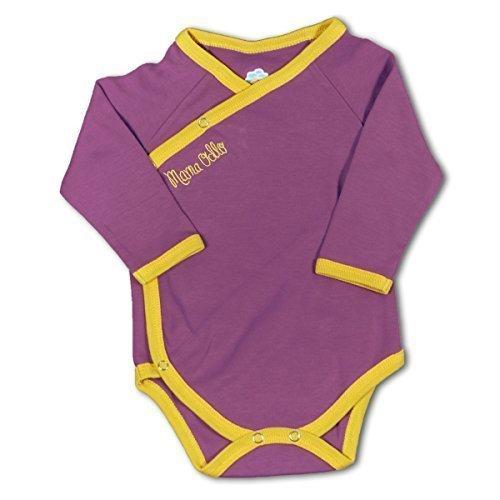 Mama Ocllo - Bebé orgánico del algodón pijama para/Body 100% Pima - 100% nacimiento multicolor anis vert/prune Talla:0 a 3 meses: Amazon.es: Bebé