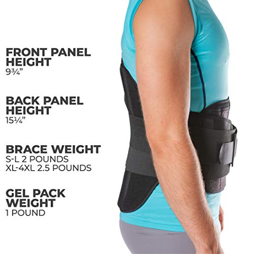 BraceAbility LSO Back Brace for Herniated, Degenerative & Bulging Disc Pain Relief, Sciatica, Spine Stenosis | Medical Lumbar Support Device for Post Surgery & Fractures with Hot/Cold Therapy (S) by BraceAbility (Image #4)