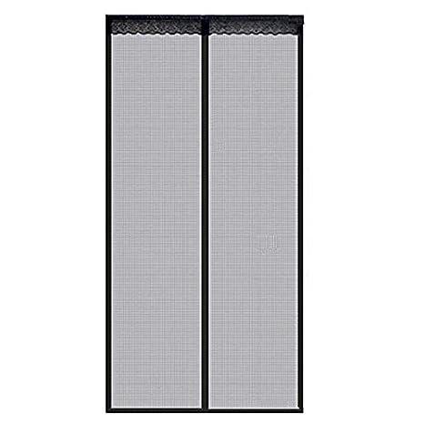 Fiberglass Magnetic Screen Door Large Magnet Patio Door Mesh Curtain W/Full Frame Velcro Keep Fly Bug Mosquito Out (110 x 220cm) Jolitac