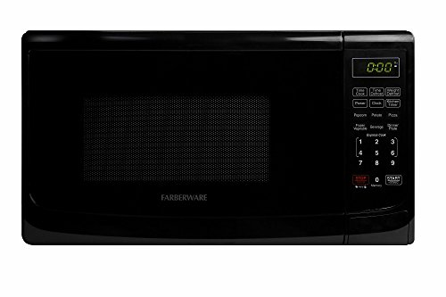 Farberware FMO07ABTBKA Classic 700W Microwave Oven, 0.7 cu. ft., Black (Small Black Microwave Oven compare prices)