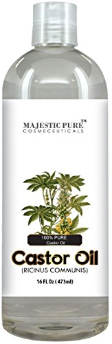 Majestic Pure Castor Oil, Hair Wonder Oil with Numerous Skin Benefits, 16 Oz