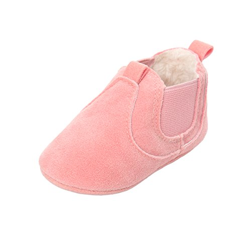 Classic Suede Moccasins (Sabe Unisex Baby Boys Girls Winter Moccasins Soft Sole Tassels Prewalker Anti-Slip Loafer Shoes (6-12 Months, B-pink))