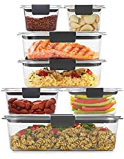 Rubbermaid Brilliance Storage 14-Piece Plastic Lids | BPA Free, Leak Proof Food Container, Clear