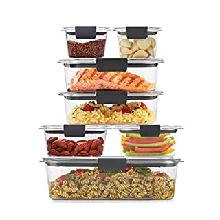 Rubbermaid Brilliance Storage 14-Piece Plastic Lids   BPA Free, Leak Proof Food Container, Clear
