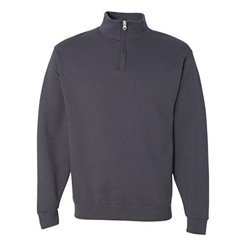 Joes USA Mens 1//4-Zip Cadet Collar Sweatshirts in Adult Sizes S-3XL