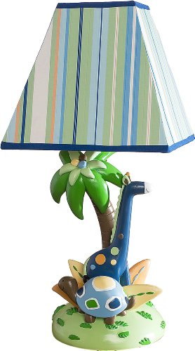 Kids Line Lamp Base and Shade, Tribal Tails