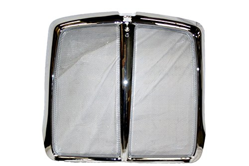 (Kenworth T660 Grille Chrome with Aluminum Bug Mesh Net)