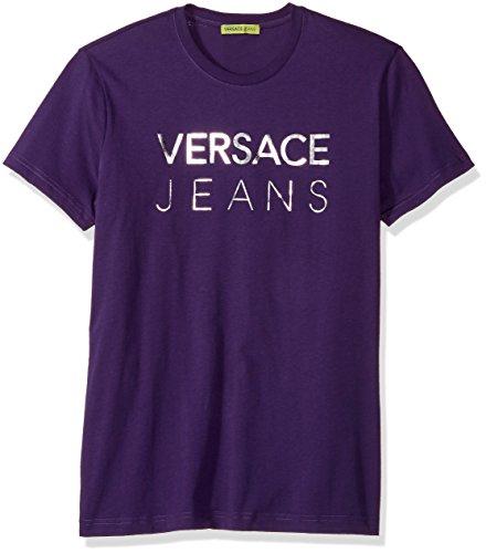 Viola Contemporary (Versace Jeans Men's Foil Logo Tee, Viola Scuro, L)