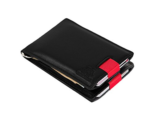 Front Fold Wallet (RFID Blocking Bifold Leather Minimalist Front Pocket Wallets for Men Money Clip)