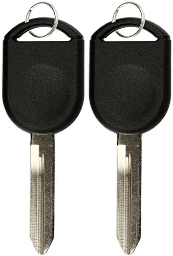 Ford Ranger Key (KeylessOption Replacement Uncut Ignition Chipped Car Key Transponder Blank For Ford Lincoln Mercury Mazda (Pack of 2))