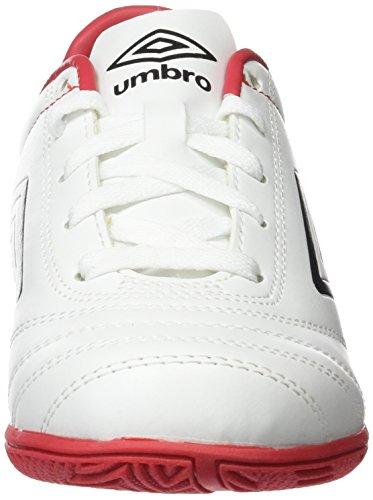 Umbro Classico V Jnr Bota IC, Niños blanco / negro / rojo (vermillion)