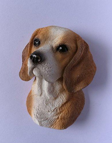 Beagle Dog Head Fridge Magnets Resin 3D fridge Refrigerator Thai Magnet Hand Made Craft.