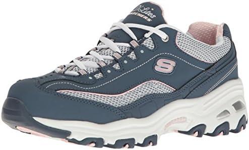Skechers Skechers womens D'lites Life Saver Memory Foam Lace up Sneaker,NavyWhite,7.5 M US from Amazon | People