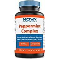 Nova Nutritions Peppermint Complex with Oil of Peppermint & Peppermint Leaf Powder 250 mg 120 Capsules