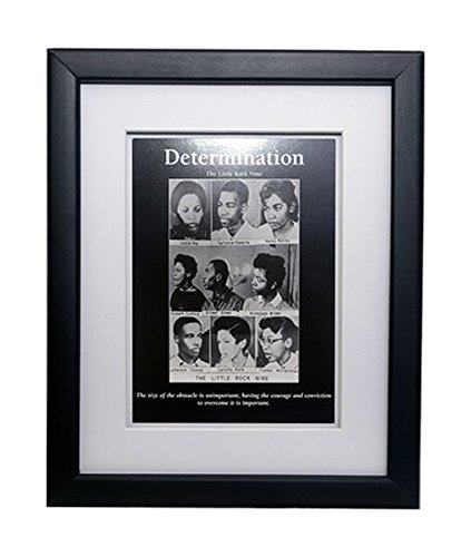 Determination: Little Rock Nine (Framed African American Motivational Poster), 8x10 inches (Brown Vs Board Of Education Of Topeka Kansas)
